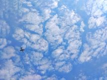 Clear sky. Cloudy with blue sky Stock Images