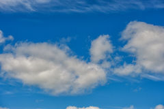Cloudy Blue Sky with Clouds Royalty Free Stock Images