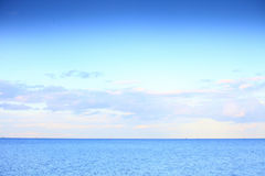Cloudy blue sky for horizon blue sea Royalty Free Stock Images