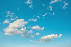 Cloudy blue sky. Nature background. Environment Stock Image