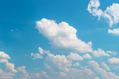 Cloudy blue sky. Nature background. Environment concept Stock Photo
