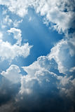 Cloudy and blue sky pattern Stock Image