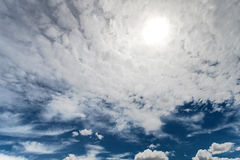 The cloudy blue sky Stock Photo