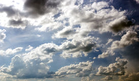Cloudy with blue sky Royalty Free Stock Photo