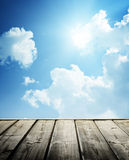 Cloudy blue sky Royalty Free Stock Photography