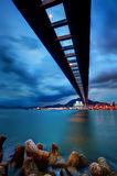 Cloudy bridge Stock Photography