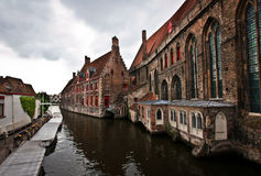 Cloudy Bruges Stock Images
