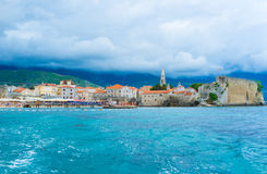 The cloudy Budva Royalty Free Stock Images