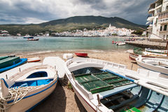 Cloudy Cadaques. Cloudy day in Cadaques Stock Image