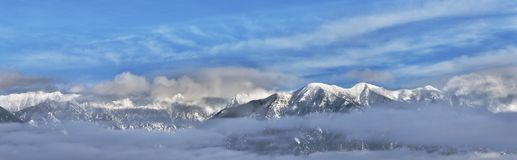 Cloudy Canadian Rockies Royalty Free Stock Photography