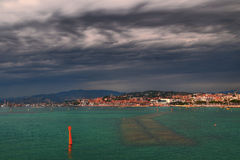 Cloudy Cannes Stock Photography