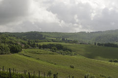 Cloudy Chianti Stock Photography