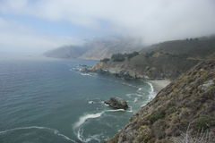 Cloudy Coast along Highway 1. Cloudy coastal shot along highway 1 Stock Photography