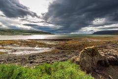 Cloudy coast Royalty Free Stock Image