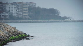 Cloudy coast shore Istanbul nature Royalty Free Stock Photo