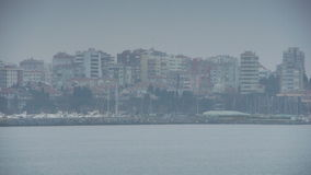 Cloudy coast shore Istanbul nature Stock Photography