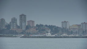 Cloudy coast shore Istanbul nature Royalty Free Stock Images