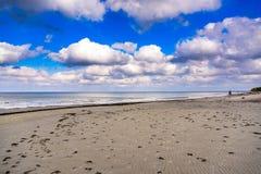 Cloudy coastline of Baltic sea near Jurmala, Latvia Stock Image