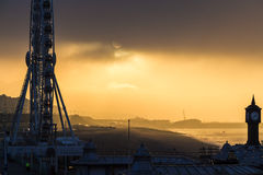 Cloudy cold morning in Brighton, UK Stock Image