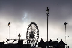 Cloudy cold morning in Brighton, UK Royalty Free Stock Photos