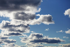 Cloudy contrasting sky Stock Photo
