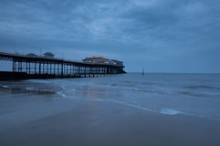 Cloudy Cromer Pier Royalty Free Stock Image