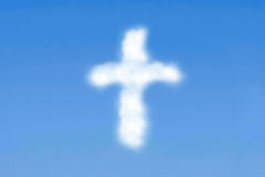 Cloudy cross Royalty Free Stock Photo