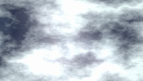 Cloudy Dark Night Sky Motion Graphic Animation Stock Image