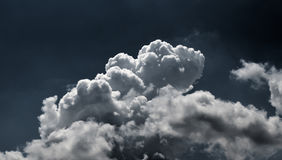 Cloudy dark sky background Stock Images