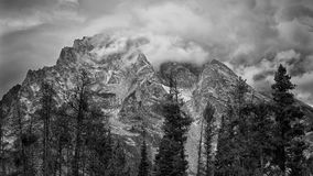 Cloudy Dawn in the Tetons Royalty Free Stock Photos