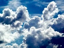 Cloudy Day. Arial view of cloud formation Royalty Free Stock Photo