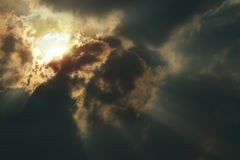 Cloudy day. The sun in cloudy day Royalty Free Stock Photography