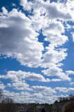 Cloudy day. Picture of a cloudy day in the neighborhood Royalty Free Stock Images