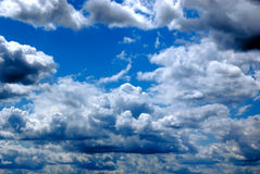 Cloudy day. As natural background Royalty Free Stock Image