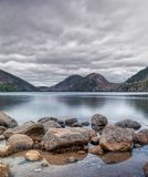 View of The Bubbles in Acadia National Park stock photography