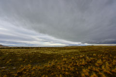 Cloudy day at antelope island Stock Image