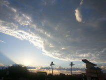 Cloudy day. Arizona sunset on a cloudy day Royalty Free Stock Photos