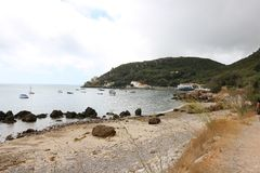 Cloudy summer day. Cloudy day in arrabida Royalty Free Stock Photography