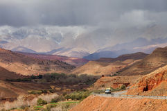 Cloudy day in Atlas Mountains, Morocco, Africa Royalty Free Stock Image