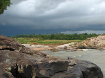 Cloudy day at Bangriposhi. View from a Bangriposhi, Orissa, India, on a cloudy day Royalty Free Stock Image