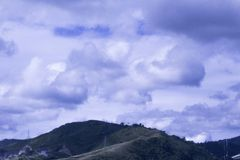 Cloudy Day. Beautiful Landscape with a cloudy day Royalty Free Stock Photo