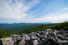 Cloudy Day on Black Rock Summit in Shenandoah National Park, Vir Royalty Free Stock Images