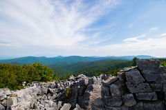 Cloudy Day on Black Rock Summit in Shenandoah National Park, Vir Stock Photography