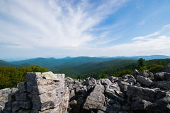 Cloudy Day on Black Rock Summit in Shenandoah National Park, Vir Royalty Free Stock Photography