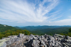 Cloudy Day on Black Rock Summit in Shenandoah National Park, Vir Stock Images