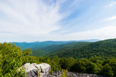 Cloudy Day on Black Rock Summit in Shenandoah National Park, Vir Stock Photo