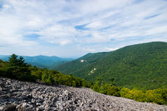 Cloudy Day on Black Rock Summit in Shenandoah National Park, Vir Stock Image