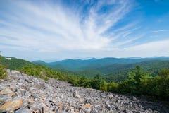 Cloudy Day on Black Rock Summit in Shenandoah National Park, Vir Royalty Free Stock Photos