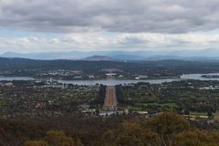 Cloudy Day in Canberra Stock Images