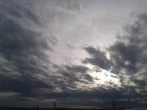 Cloudy day. Sky sun beach royalty free stock image